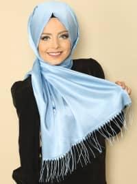 Twisted Bright Shawl - Blue - Gulsoy