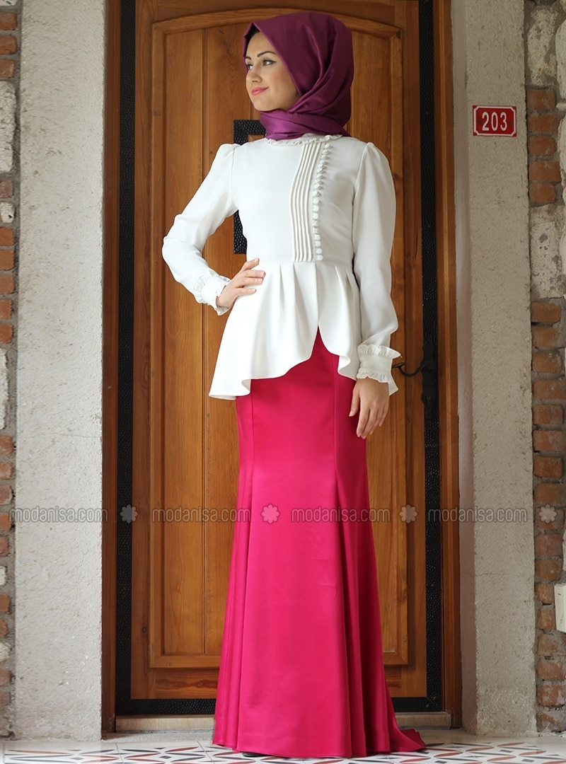 Fish Skirt - Pink - Minel Ask