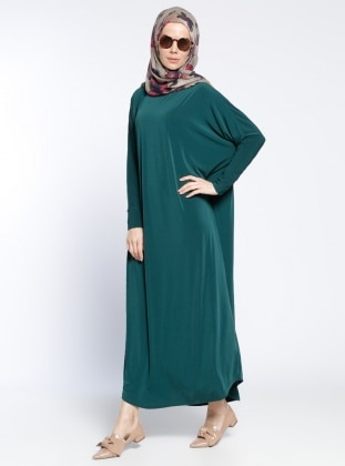 Klasik Elbise - Yeşil