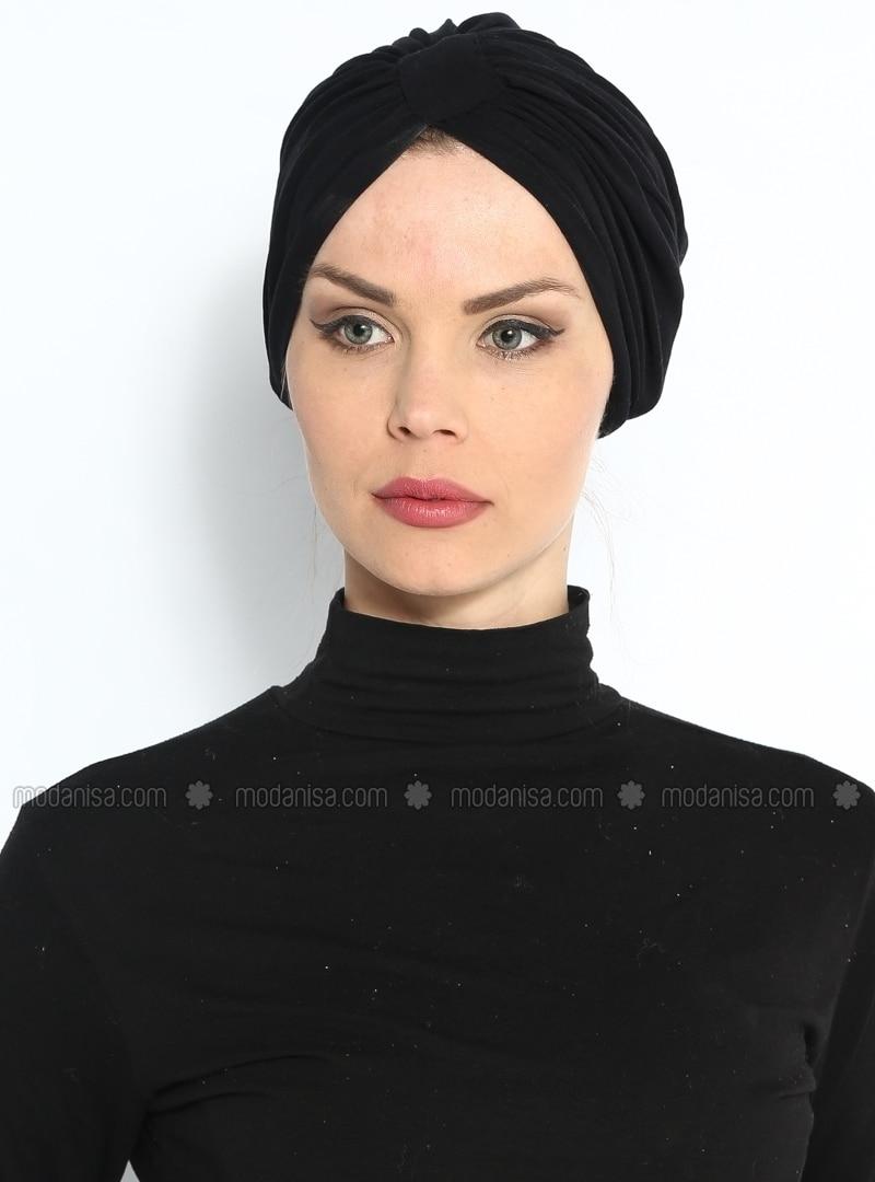 Black - Instant Scarf