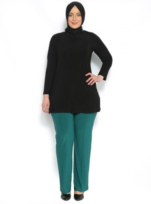 Klasik Pantalon - Yeşil - He&De