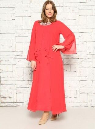 Abiye Elbise - Kırmızı - He&De