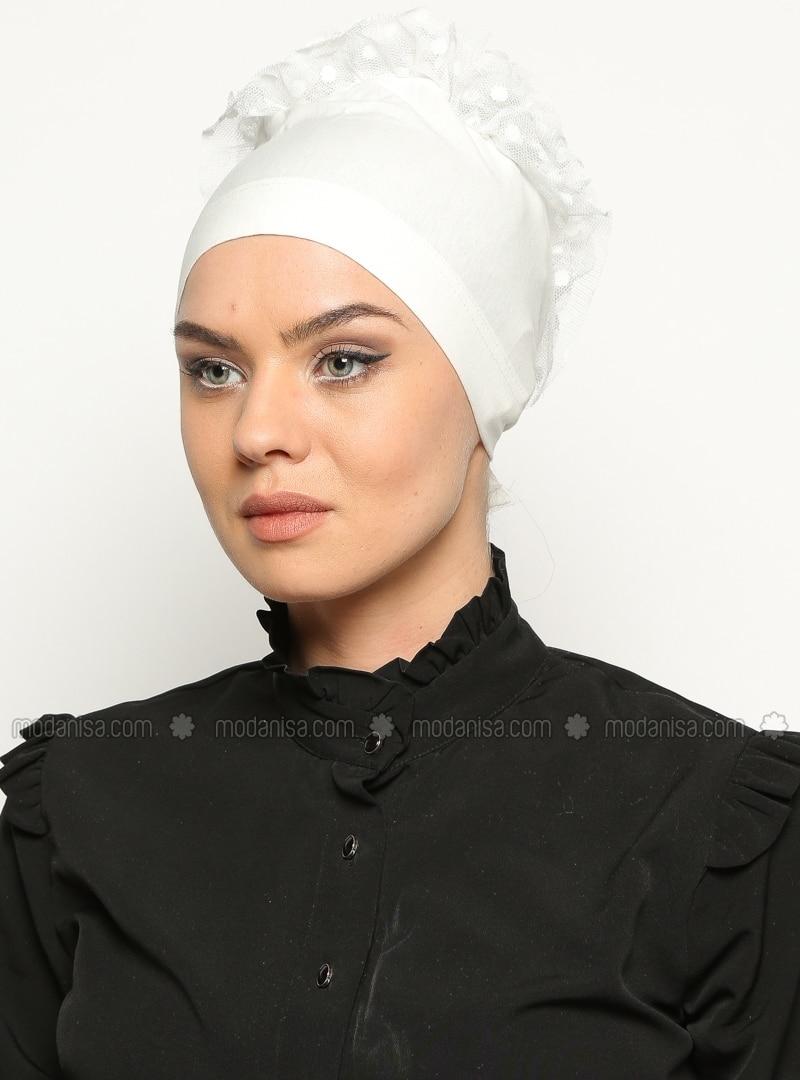 Jersey Bonnet - Ecru