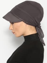 Gray - Gray - Instant Scarf