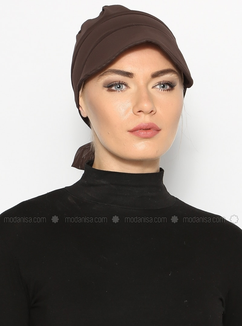 Brown - Instant Scarf