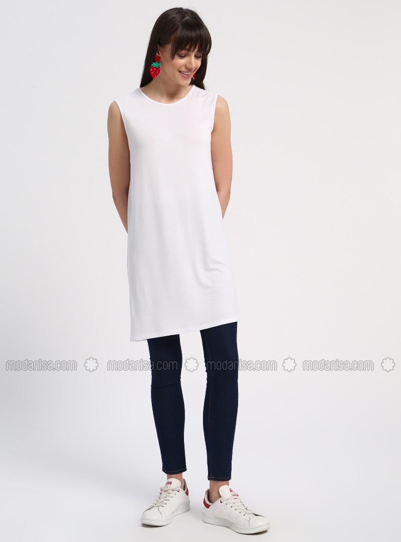 sleeveless Tunic - White. Fotoğrafı büyütmek için tıklayın cd28f1c04