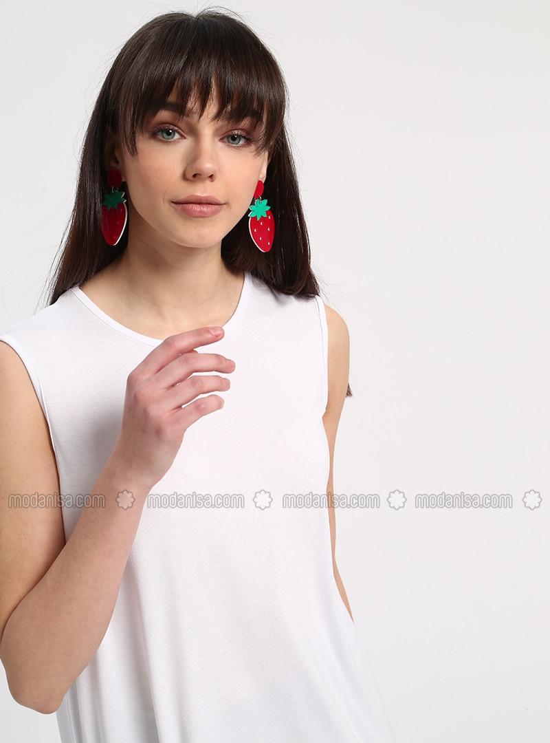 sleeveless Tunic - White