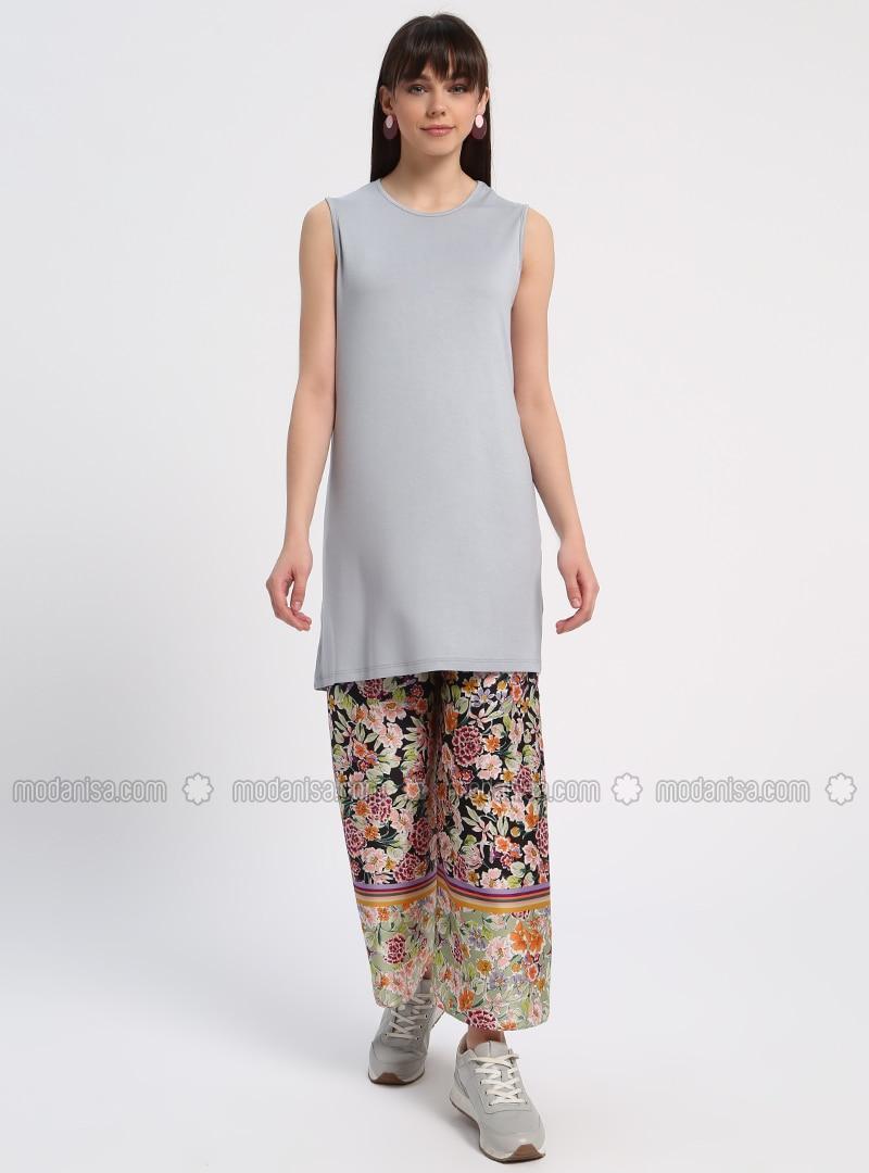 sleeveless Tunic - Gray