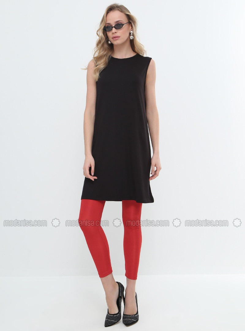 sleeveless Tunic - Black