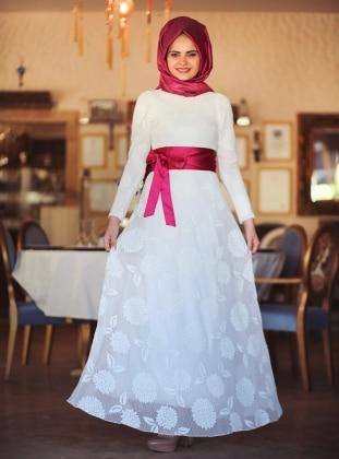 Manolya Elbise - Ekru