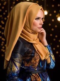 Püsküllü Şal - Altın Sarı - Muslima Wear