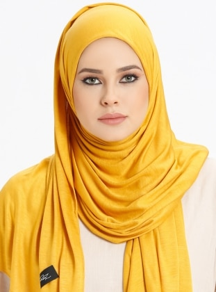 Jersey Combed Cotton Scarf - Mustard