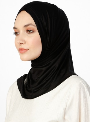 Jersey Combed Cotton Bonnet - Black