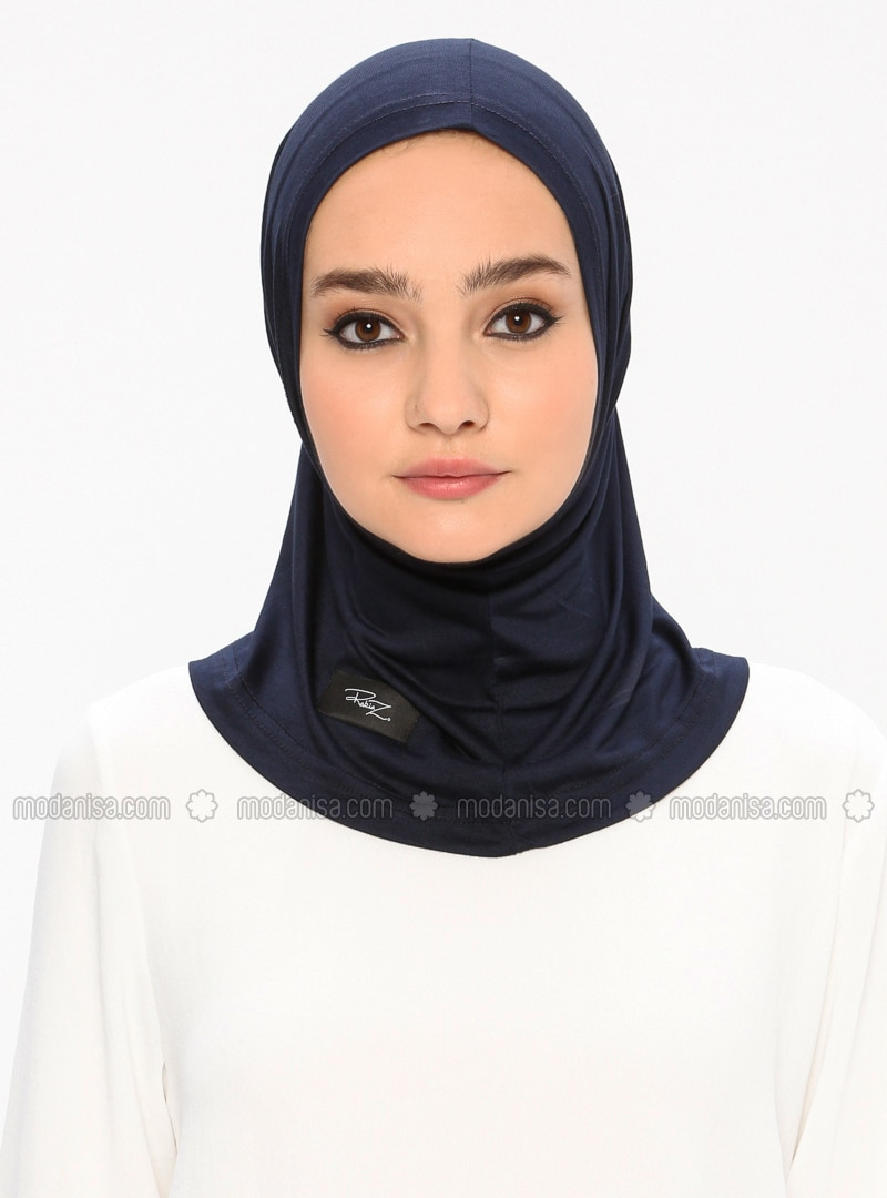 Navy Blue - Simple - Viscose - Jersey - Bonnet