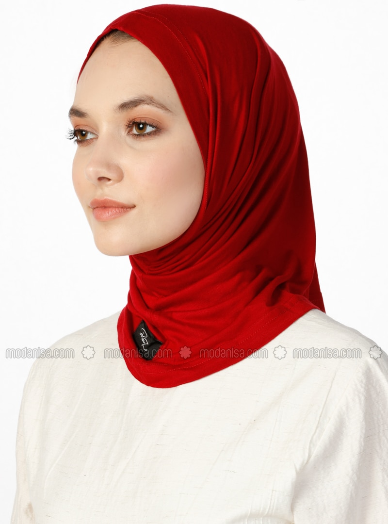 Combed Cotton Jersey Bonnet - Maroon