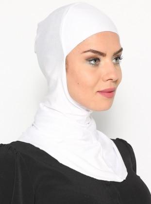 White - Simple - Bonnet - Ecardin