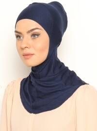 Hijab Bonnet - Navy Blue