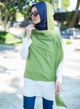 Simple - Crew neck - Green - Tunics Puane 137420