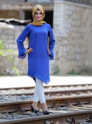 Şila Tunik - Saks Mavi
