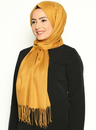 Pashmina - Yellow - Plain - Shawl