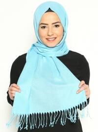 Fine Pashmina Scarf - Light Turquoise - Ozsoy