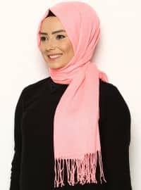 Fine Pashmina Shawl - Neon Pink - Ozsoy