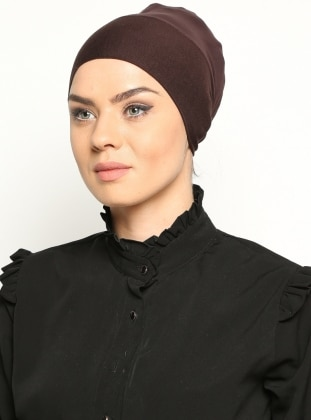 Brown - Lace up - Bonnet