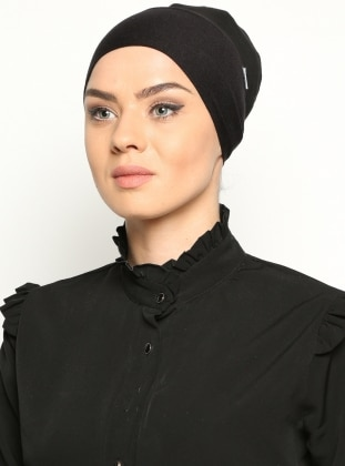 Black - Lace up - Bonnet
