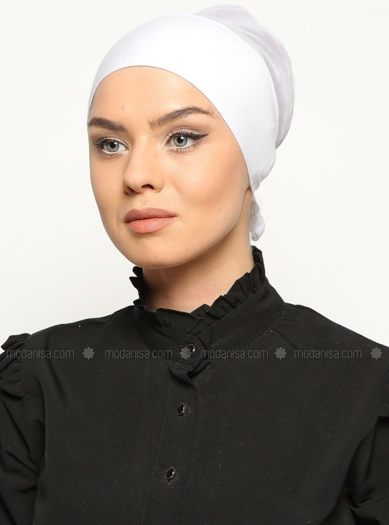 White - Lace up - Bonnet