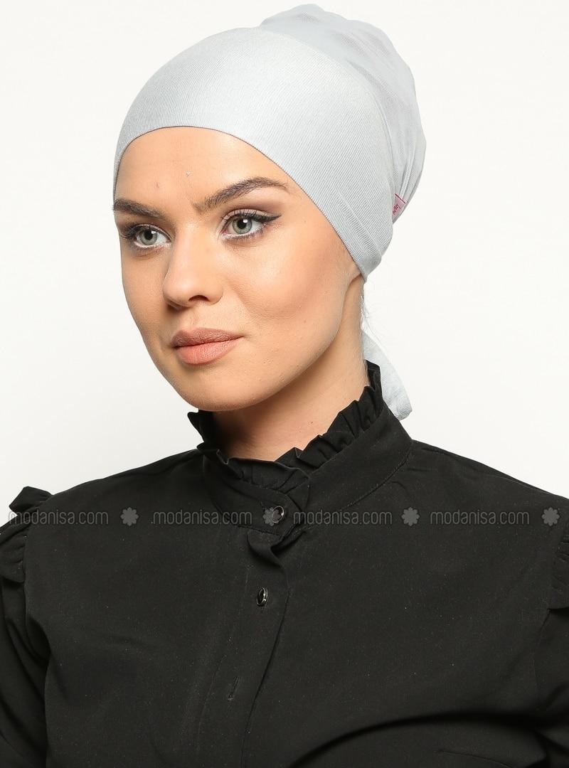 Gray - Lace up - Bonnet