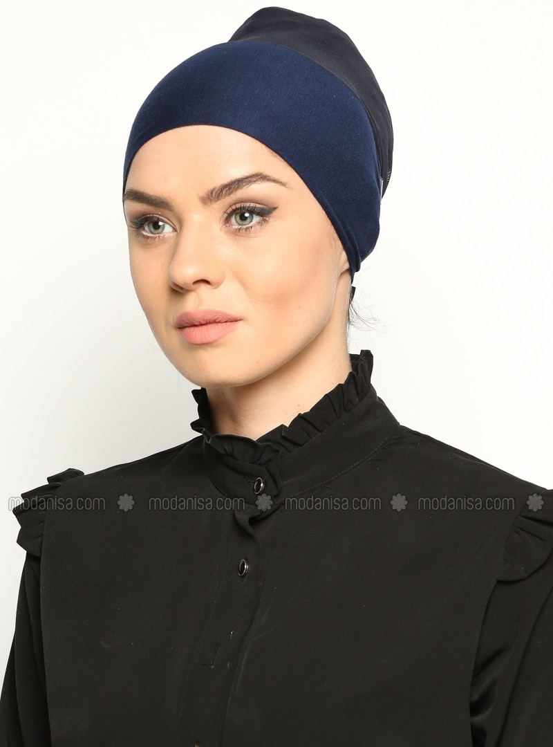 Navy Blue - Lace up - Bonnet