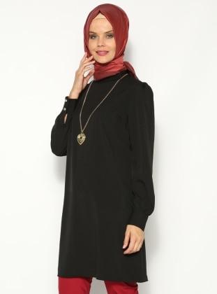 Kolyeli Tunik- Siyah