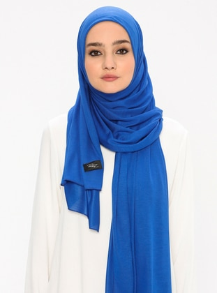 Jersey Combed Cotton Shawl - Saxe