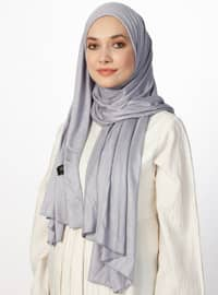 Combed Cotton Jersey Shawl - Gray