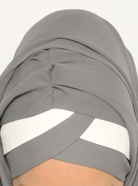 Bicolor Yonca - Semi-instant Shawl - Gray