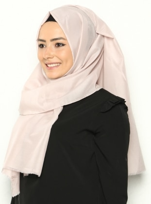 Silk Voile Shawl - Powder -  Esarp