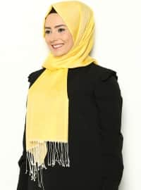 Cocoon Plain Shawl  - Yellow Beige - Misirli