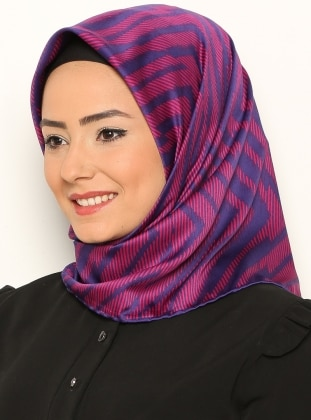 Pink - Purple - Striped - Scarf
