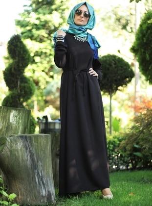 Basic Dress - Black - Melek Aydin