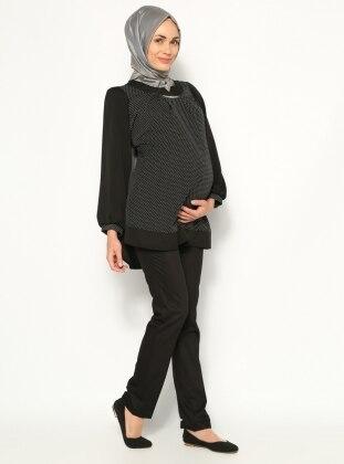 Klasik Hamile Pantolon - Siyah