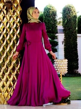 Shawl Dress - Fuchsia - Minel Ask 154609