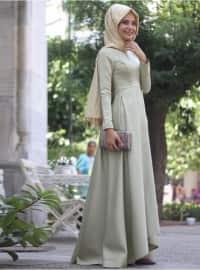 Zümra Abiye Elbise - Çağla Yeşili - Nurbanu Kural