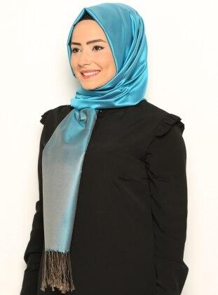 İpek Şal- Vizon-Turkuaz Mısırlı