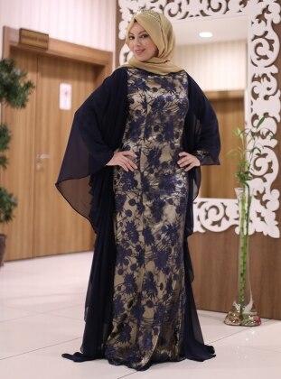 Sure Balık Abiye Elbise - Lacivert