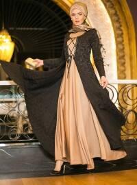 Kaftan Evening Dress - Camel