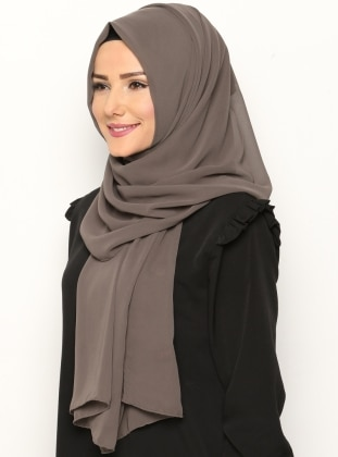Alya Shawl - Brown -  Esarp