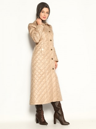 Quilted Coat - Beige