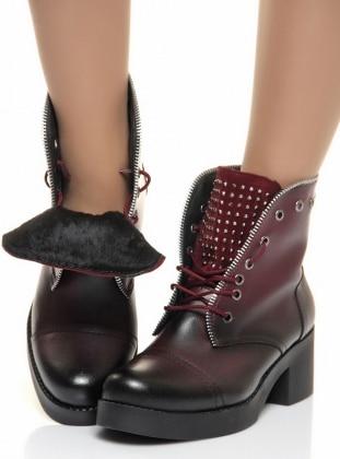 Shoes Time Bot - Bordo Deri