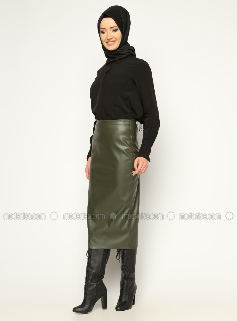 Skirt - Green - Skirts - Modanisa