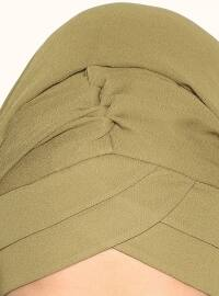 Yonca - Semi-Instant Shawl - Khaki - TulipaTurban